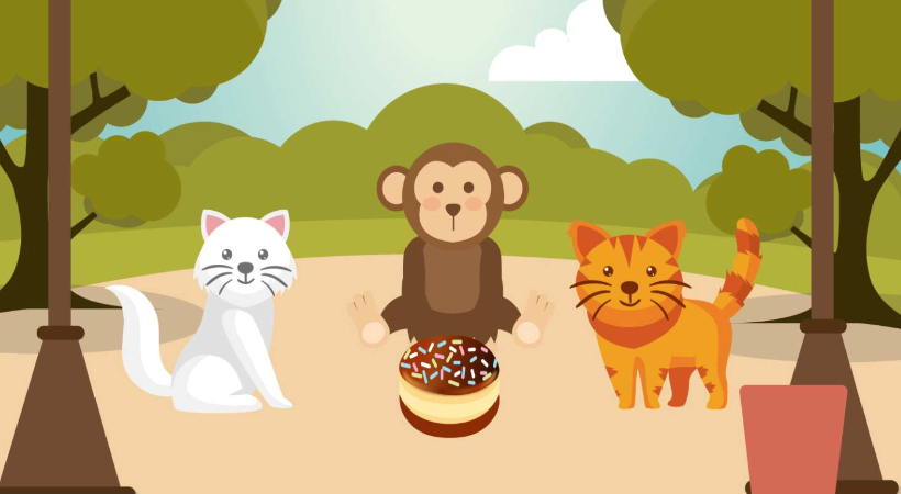 Two Cats And The Monkey Story