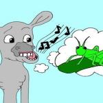 ass and the grasshoper