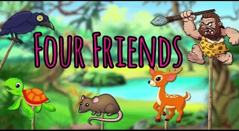 Four Friends and the Hunter Story