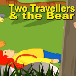 two travelers and the bear