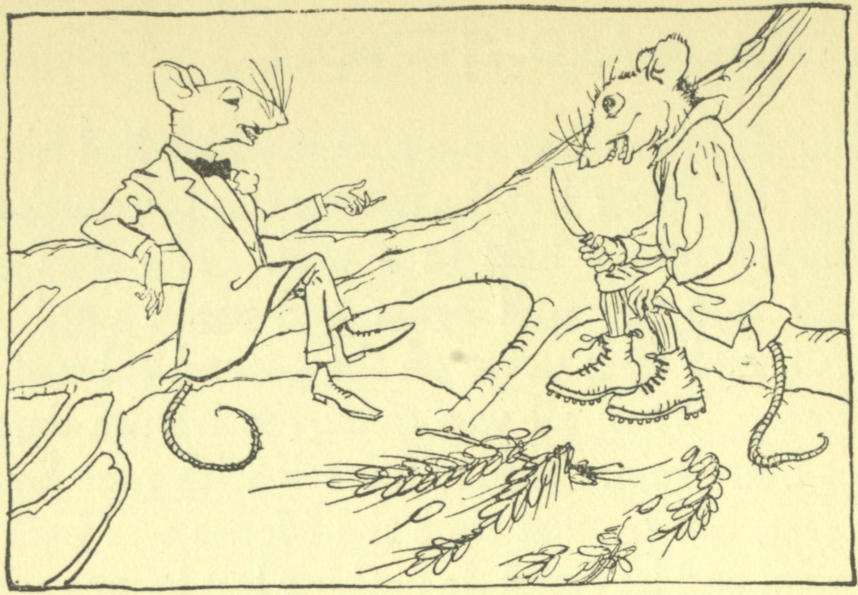 The Town Mouse and the country mouse talking