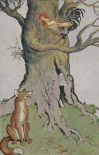 the dog the cock and the fox