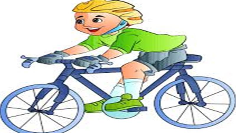 a cycling boy